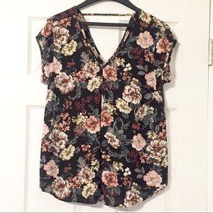 Halogen— floral blouse